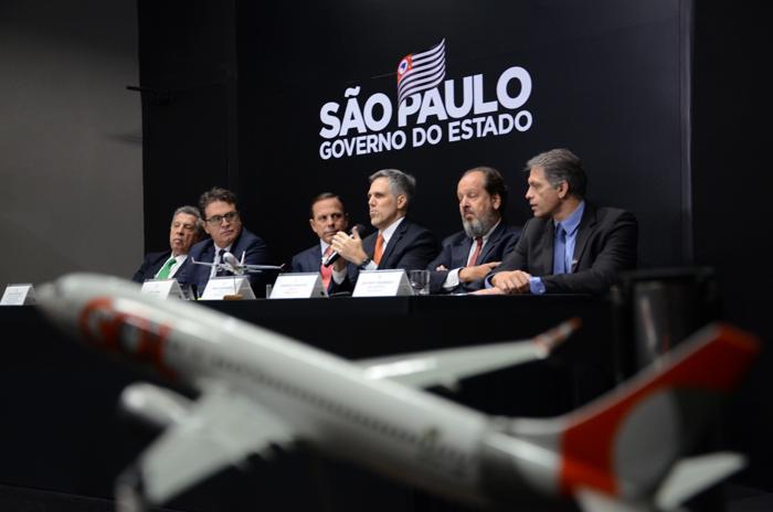 Raul Sulzbacher, Visite São Paulo, Vinicius Lummertz, secretario de Turismo de São Paulo, João Doria, governador, Paulo Kakinoff, presidente da Gol, Eduardo Sanovicz, da Abear, e Gustavo Figueiredo, presidente da GRU Airport