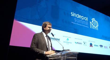Gilson Machado Neto na abertura do Sindepat Summit