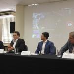 Guilherme Ávila, prefeito de Barretos; Vinicius Lummertz, secretário de Turismo do estado de São Paulo; Christiano Braga, da Secretaria de Cultura e Economia Criativa;