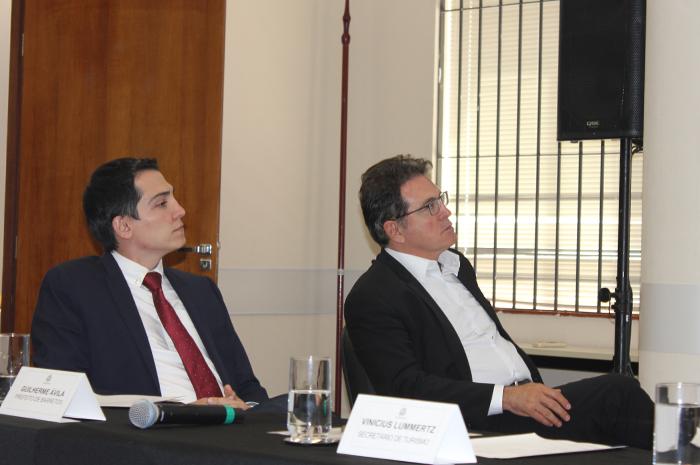 Guilherme Ávila, prefeito de Barretos; Vinicius Lummertz, secretário de Turismo do estado de São Paulo