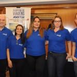 Guilherme Reis, Cintia Pimenta, Melissandra Soares, Juciara Evangelista e Rodrigo Dias, da Agaxtur
