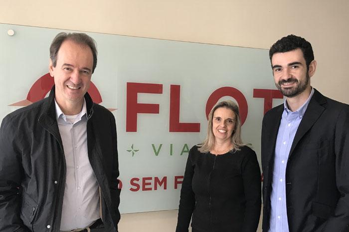 Eduardo Barbosa, Simone Rodrigues e Tiago Barbosa da Flot Viagens