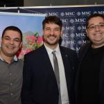 Ignacio Palacios, da MSC Cruzeiros, entre Marcos Silva e Leandro Sommerfeld, da Maritimos