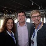 Jane Terra, do Visit Orlando, Luiz de Moura Jr., da Europcar, e Barbára Picolo, da Flytour MMT