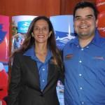 Jane Terra e André Almeida, do Visit Orlando
