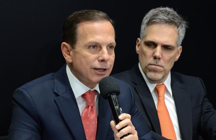 João Doria, governador de São Paulo, e Paulo Kakinoff, presidente da Gol