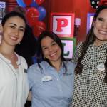 Juanita Ariza, do Kennedy Space Center, Cristina Muniz, do SeaWorld, e Gabriela Delai, do Disney Destinations