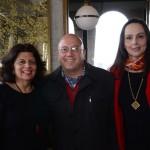 Jussara Haddad, do consulado dos EUA, Marcelo Leone, da Agaxtur, e Heloisa Levy, da Interpoint