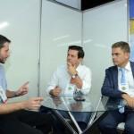 Leonardo Guedes de Mello, da Passaredo, Otavio Leite, secretário de Turismo do Rio de Janeiro, e Cristiano Nogueira, da TurisRio