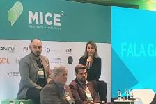 Luciane Leite apresenta case da WTM-LA durante o Mice²Meeting