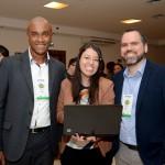 Luis Sobrinho, Ana Cristina Clemente e Rodrigo Ramos, da Setur-SP