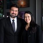 Marcelo Neder e Juliana Assumpção, da Aviesp