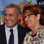 Marco Cardoso, da MSC Cruzeiros, e Ines Bellini, da Mendestur