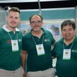 Marcos Rezende, Hayrton Almeida e Alejaandro Velasquez, da Luck Receptivo