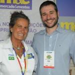 Mari Masgrau, do M&E, e Leonardo Mello, da Passaredo