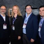 Mauricio Alexandre, da RCA Turismo, Svetlana Yazovskikh, da Philadelphia CVB, Martim Diniz, do SeaWorld, e Andre Almeida, do Visit Orlando