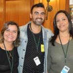 Neuza Mendes, Leandro Almeida, da Guesant Turismo, e Patricia Zito, do Mundo Por Ela