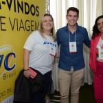 Patricia Rodrigues, Realize Viagens, Adão Oliveira, da Flytour Viagens e Turismo, e Andréa Cristina, da Andréa Turismo