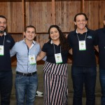 Paulo Pita, Roberto Junior, Julia Meira, Andre Oliveira, e Antonio Boldrin, da Azul Viagens