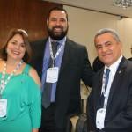 Potiguara do lago, secretário de Ubatuba, com Marcia Leite e Marco Cardoso, da MSC