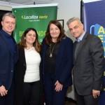 Rene Moia, Andrea Lima e Augusto Bezerra, da Localiza, e Magda Nassar, presidente da Abav Nacional