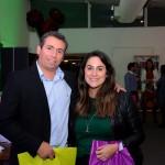 Ricardo Bezerra, da Azul Viagens, e Luiza Leopoldo, da Flytour Viagens