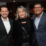 Ricardo Dias, da GJP, Adriana Teixeira, da STX Turismo, e Alex Andrade, do Nannai