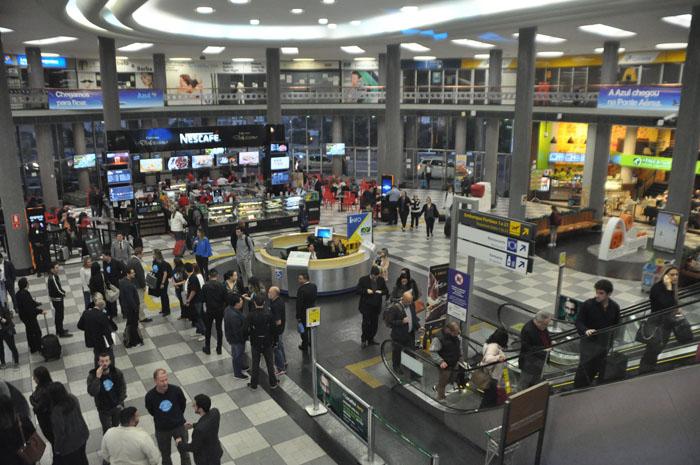 Saguão do Aeroporto de Congonhas, um dos mais movimentados do País