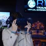 A repórter Lisia Minelli participou da experiência na Sala Imersiva da R11