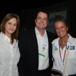 Sandra Passetto e Gleyson Ranieri, da Air Canada, e Mari Masgrau, do M&E