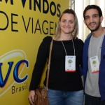 Simoni Silva e Leandro Bentlin, da CVC Santa Rita