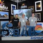 Tiago Guedes, Silmar de Paulo, e Marcelo Fachada, do Visite Santos