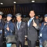 Tripulação do voo AD 0001 da Azul