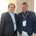 Valdir Walendowsky, secretário de Turismo de Balneário Comboriú, e Gustavo Bauer, do Atracadouro Barra Sul