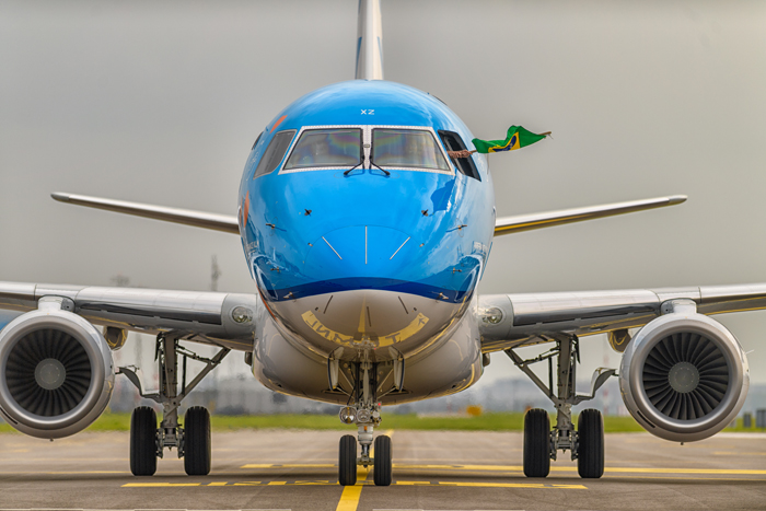 Delivery/1st arrival Embraer PH-EXZ Schiphol Airport