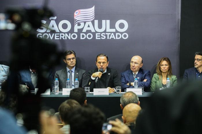 Governador João Doria em coletiva de imprensa para falar sobre SP-Gastronomia - Foto: Governo do Estado de São Paulo