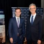 Adrian Ursilli, da MSC, e Marcos Ferraz, da Clia Brasil