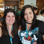 Adriana Carvalho, da Vera Parodi de São José dos Campos e Drielle Lamin, da Infinitur de Cruzeiro