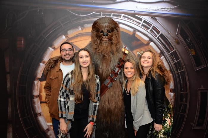 Agentes de Viagens com Chewbacca