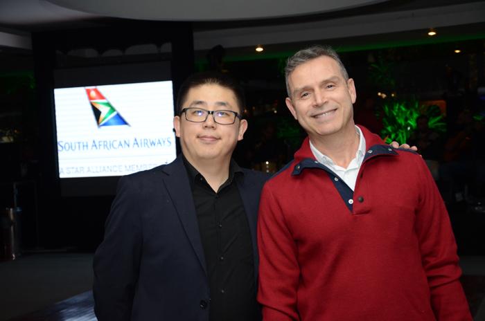 Aicheng Liu e Guilherme Barros, da Air China