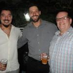 Alex Farias, da Dantur Turismo, Diogo Guedes, da SkyTeam, e Gilmar Heck, da Alvimar Turismo