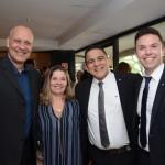 Alexandre Schimdt Fernandes e Cláudia Tavares, da Tilli Viagens, Pedro Augusto e Vitor Spirandelli, da MSC Cruzeiros