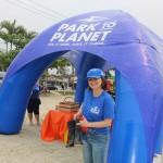 Ana Maria Donato ajudou na limpeza da praia
