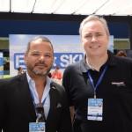 Andre Raynaud, diretor de Turismo da Câmara LGBT; e Frederico Levy, da Interpoint