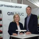 Annette Tauber e Tom Maes, da Lufthansa