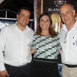 Aurea Carvalhal, da Blanctour, com Anderson Marques e Sergio Leoneti, da GTA