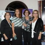 Aurea Carvalhal, da Blanctour, com Arlinda de Souza e Graça Medina, da Blumon, e Marilucia e Marianne Saramago, da Ematur