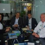 Carla Rezende, da Canela Verde, Paulo Renato e Leonardo Menezes, da Vix Receptivo, e Roy Taylor, do M&E
