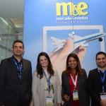 Carlos Antunes, Jacqueline Ledo, Isadora Simões e Gilson Azevedo, da Copa Airlines