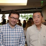Claucio Pontes, da Kishon Tur, e Celso Okushi, da  Financial & Investment Advisor